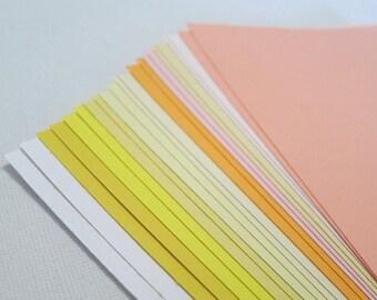 Warm Colors - Fuzzy Peach Sunshine Construction Paper Pack - 12.5cm x 17.5cm - 22 sheets