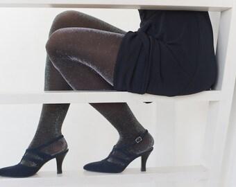 Vintage shoes Women's shoes VTG Fragiacomo shoes Italian shoes Evening pumps 80s sandals Designer shoes Satin pumps High hill pumps