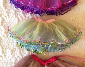 Colorful Sequin Tutu Skirt Kids 6 Months to 5 Years