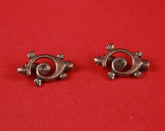 9A/1 MADE in EUROPE 2 toggle clasps, copper toggle clasp, turtle toggle clasp, copper toggle clasp (X5634ABAC) Qty2 sets