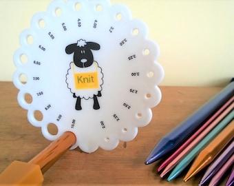 Knitting Needle Gauge ~ Sheep Design