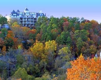 Fall View of Crescent Hotel in Eureka Springs, Arkansas