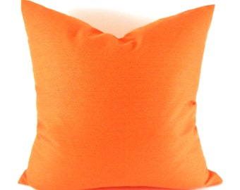 Orange Pillow Covers ANY SIZE Decorative Pillow Cover Orange Pillow Premier Prints Solid Orange
