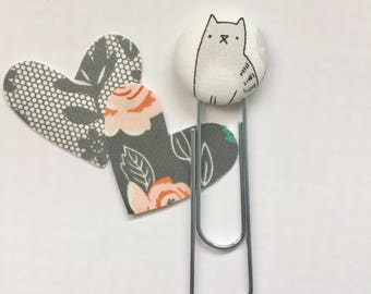 Cat Paperclip, Jumbo Planner Clip, Cat Bookmark, Bookmarks, Planner Clip, Jumbo Paperclip, Planner Clip, Jumbo Clip, Kitty Cats, Cat Gifts
