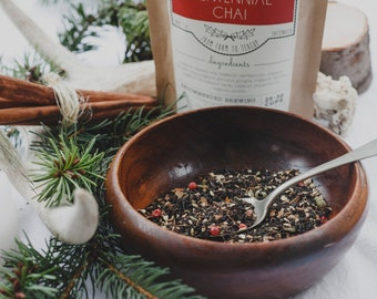 Centennial Chai Handcrafted Tea | All Organic | Indian Style Masala Chai Tea | Winterwoods Tea Company Loose Leaf Spicy Chai Blend