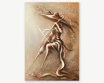 Сellist Original Modern Fine Art Musician Painting by Raen , Music painting , Cello Player , Portrait Cellist Lady , exclusive gift