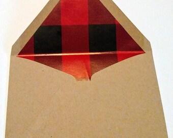 Shiny Buffalo Print Lined Envelopes