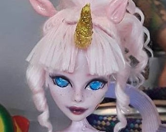 Custom faceup for monster high and ever after high