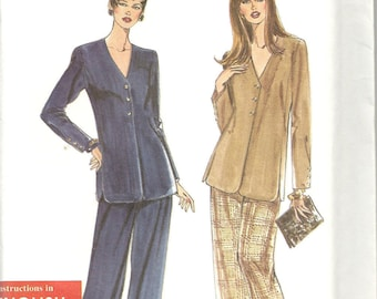 Misses' Jacket and Pants Pattern by Simplicity 9751/ New, size 10-20