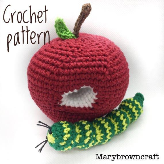 Crochet apple, Crochet pattern, Apple Amigurumi Crochet fruit ...