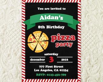 Pizza Party Invitation, Pizza Making Birthday, Pizza Birthday Party Invitation, Pizza Theme Birthday, Pizza Party Invite, Pizzeria Invite