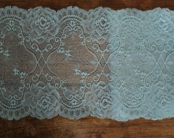 Stretch Lace - Muted Turquoise