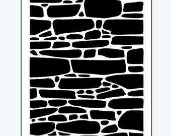 Stone stencil, Stonework stencil, Brick stencil, Stencil