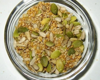 Salad Seeds, Sunflower Seeds, Pumpkin Seeds, Sesame Seeds, Chia Seeds, Hemp Seeds and Poppy Seeds, Salt Free, Refill
