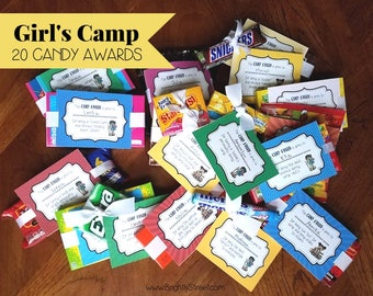 Girl's Camp Awards with Candy