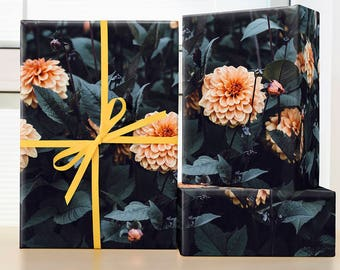 Romantic Victorian Flower Wrapping Paper; Flower Wrapping Paper; Christmas Wrapping Paper; Victorian Wrapping Paper; Victorian Gift Wrap