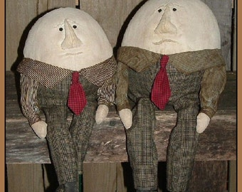 primitive folk art Humpty Dumpty 2 sizes instant download pattern HAFAIR OFG faap 498