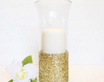 Wedding Centerpiece, Glass Candle Holder, Flower Vase, Baptism Decor, Baby Shower Decor, Home Decor.