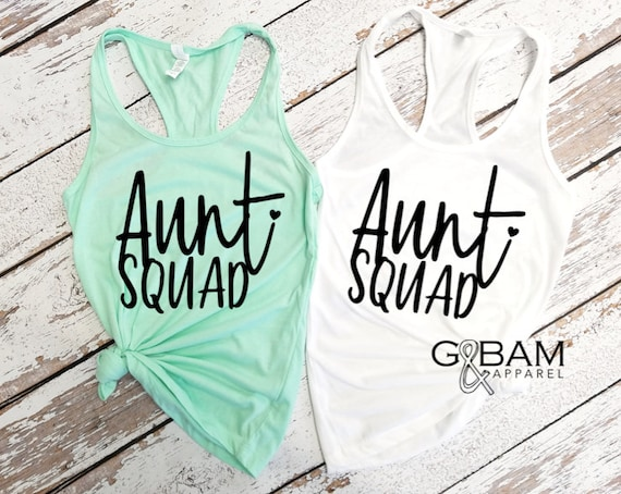 Aunt Squad tank top / Aunt Tank top / Pregnancy reveal / We're pregnant