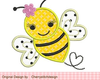 Embroidery design Bumble Bee Machine Embroidery Applique -approximate 4x4 5x5 6x6 inch