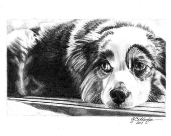 Gift For Her Custom Pet Portrait Pet Sketch From Photo Gift Idea