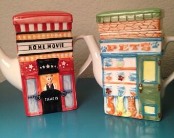Pair of MSRF Design Studio teapots
