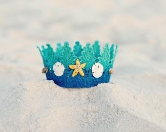MERMAID DREAM, mermaid crown, beach crown, starfish, princess crown, mermaid princess, ombre crown