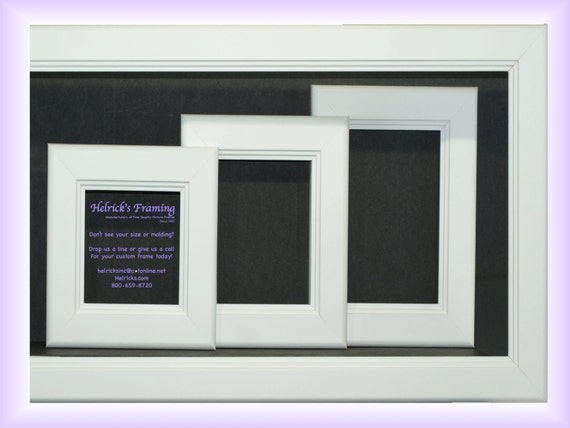 White Picture Frames from 4x4 20x30 or Larger Custom Sizes