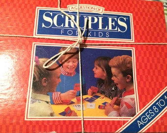 Scruples A Question for Kids Game Vintage by Milton Bradley 1988