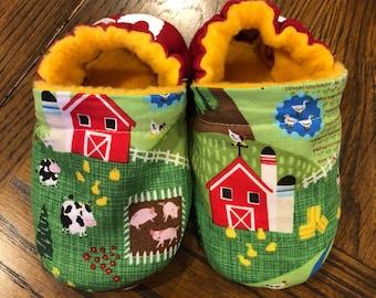 Soft Baby Boy Farm Dinosaur Slipper Shoes