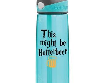 Harry Potter Water Bottle Decal Sticker Butterbeer