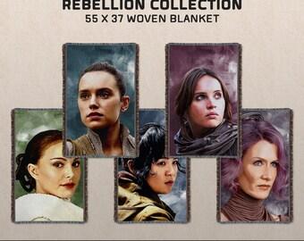 Women of the Rebellion: Star Wars-inspired Woven Blanket