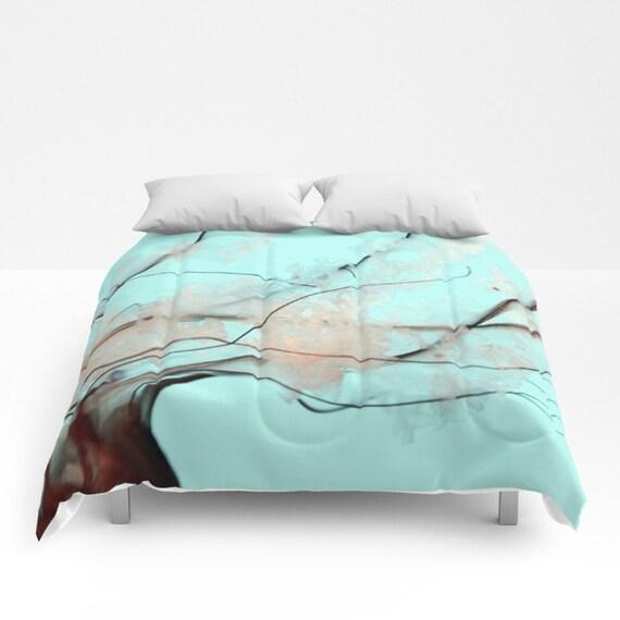 Jellyfish Comforter, Ocean Blue Decorative bedding, Pacific Sea Nettle, Nautical Decor, Aqua Blue bedroom, Surf, Water, Ocean Blue Bedding