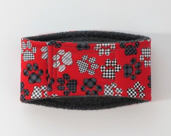 Pawprints on Red Male Dog Belly Band, dog diaper, belly bands by trina, dog wrap