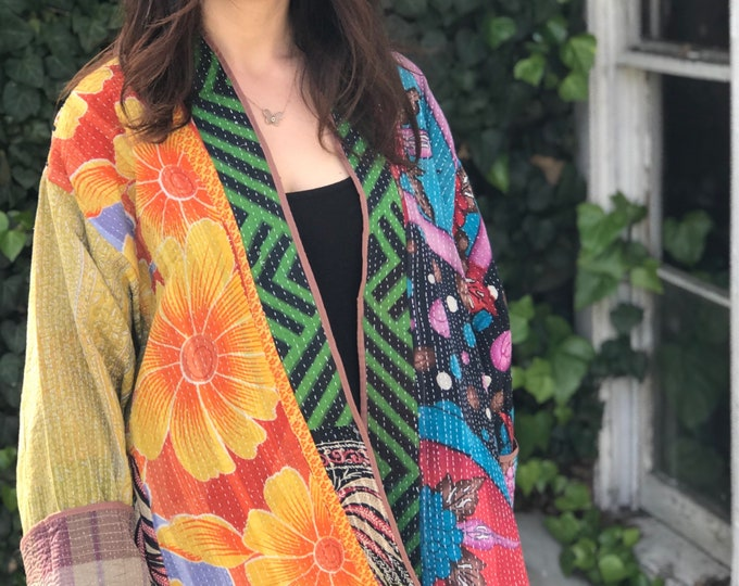 Plus size reversible quilted jacket in amazing colors