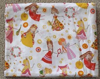 Alexander Henry Fabric Once Upon a Time - Fair Maidens on Natural - 1 Yard - Designer Fabric Destash Princess Girl Bedding Nursery Baby