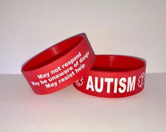 2 Pack - Autism Medical Alert Wristband Safety Bracelet