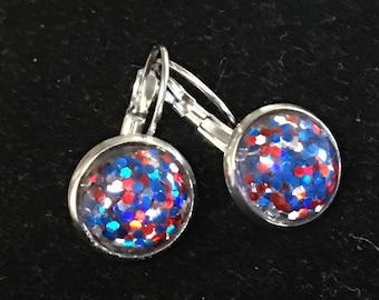 America Glitter Earrings