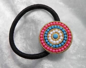 Round Bead Design Ponytail Holder, Hair Tie, Hair Elastic