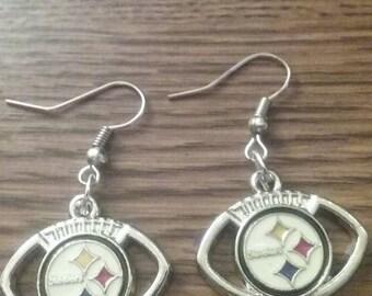 Pittsburgh Steelers football earrings