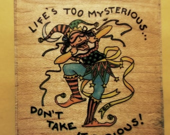 "Jester Rubber Stamp by ""All Night Media, Inc."""