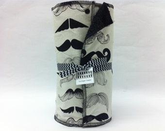 Unpaper towels, reusable paper towels, cloth paper towels, snapping paper towels  - Mustaches