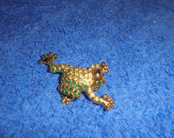 Vintage Monet Frog Brooch
