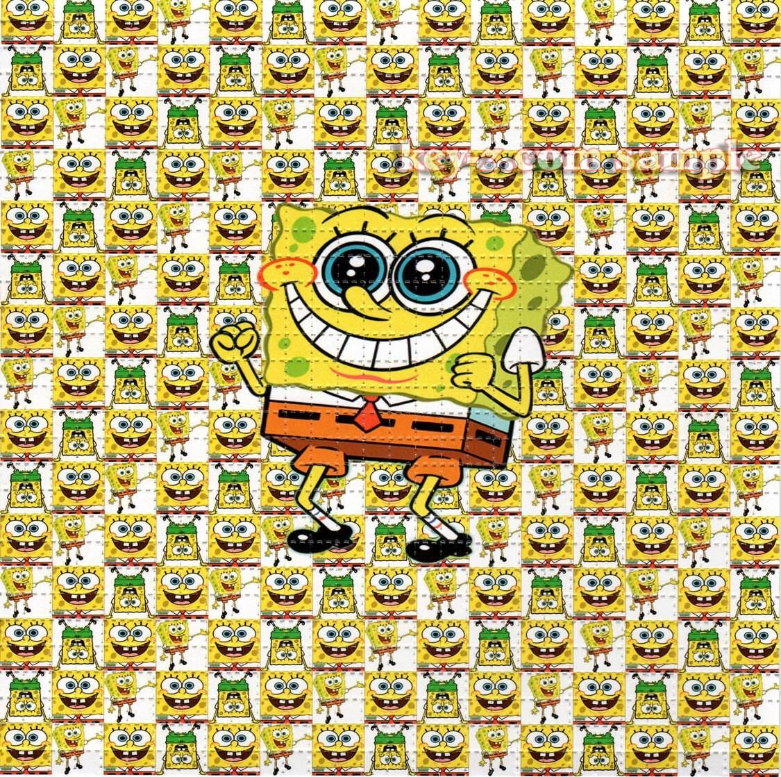 Spongebob Squarepants BLOTTER ART perforated acid art paper