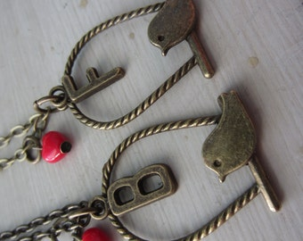 BFF Best Friends Bird Necklace