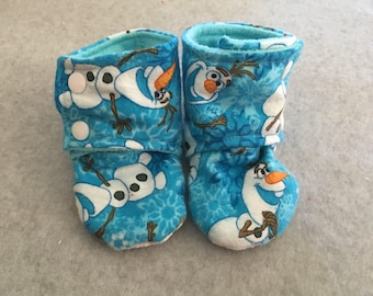 Olaf Snowman Stay-On Baby Bootie