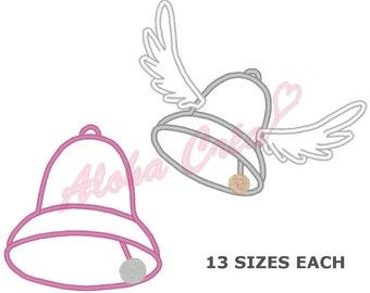 Machine Embroidery Designs Bells applique - 2 models - 13 sizes each - Instant Digital Download