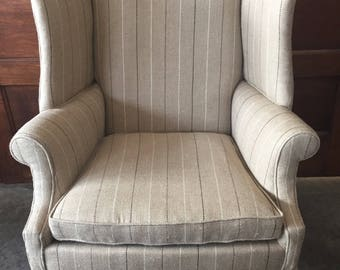 Stately Fireside Wingback Chair
