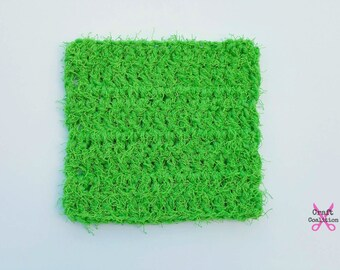 Crochet Pattern - Scruffy Square Scrubber dish kitchen scrubber crochet pattern pdf