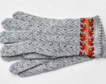 Gloves Grey Wool Hand Knit Gloves for Women Winter accessories Womens Gloves Fingerless Gloves